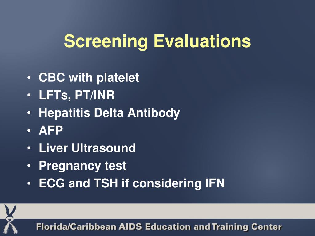 Screening Evaluations