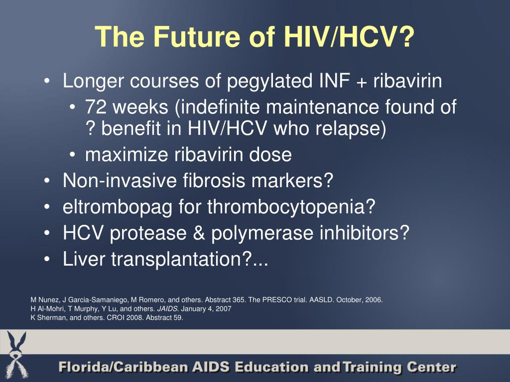 The Future of HIV/HCV?