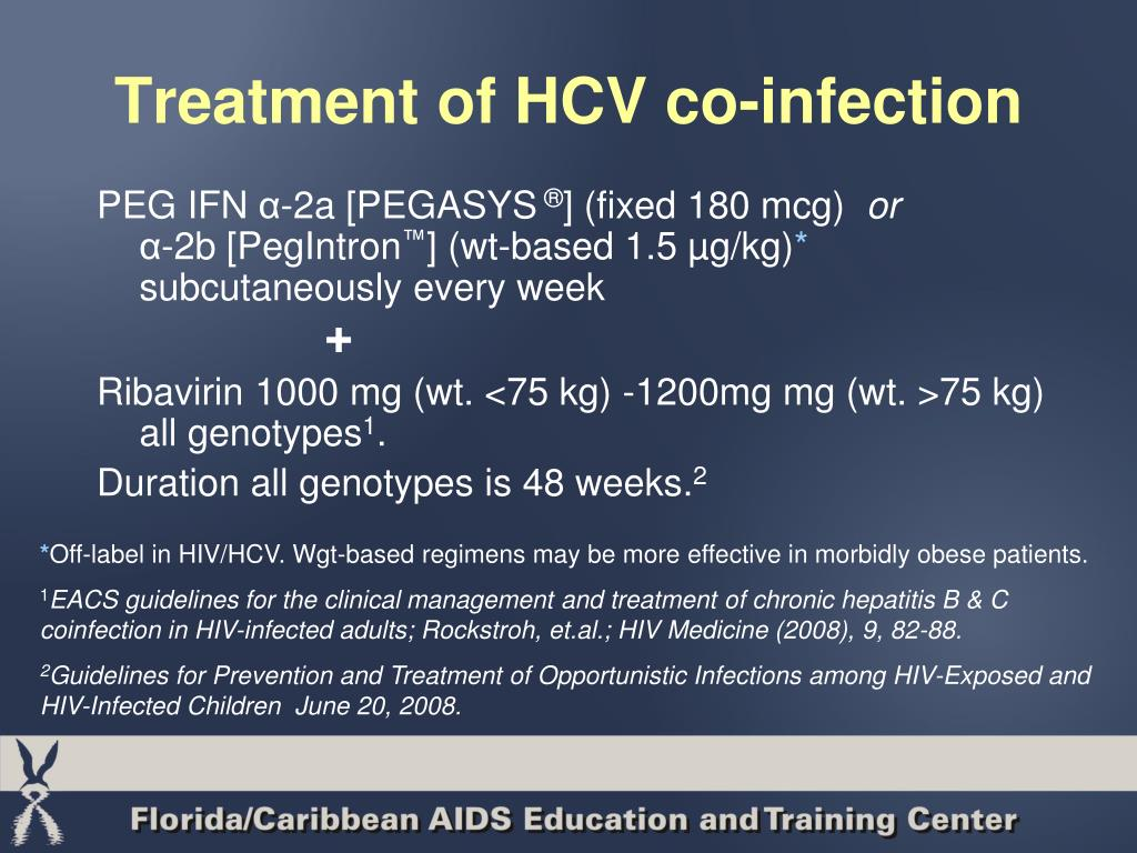 Treatment of HCV co-infection