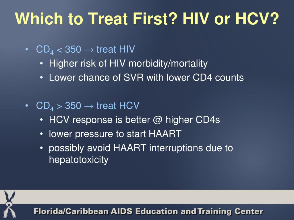 Which to Treat First? HIV or HCV?