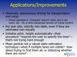 applications improvements