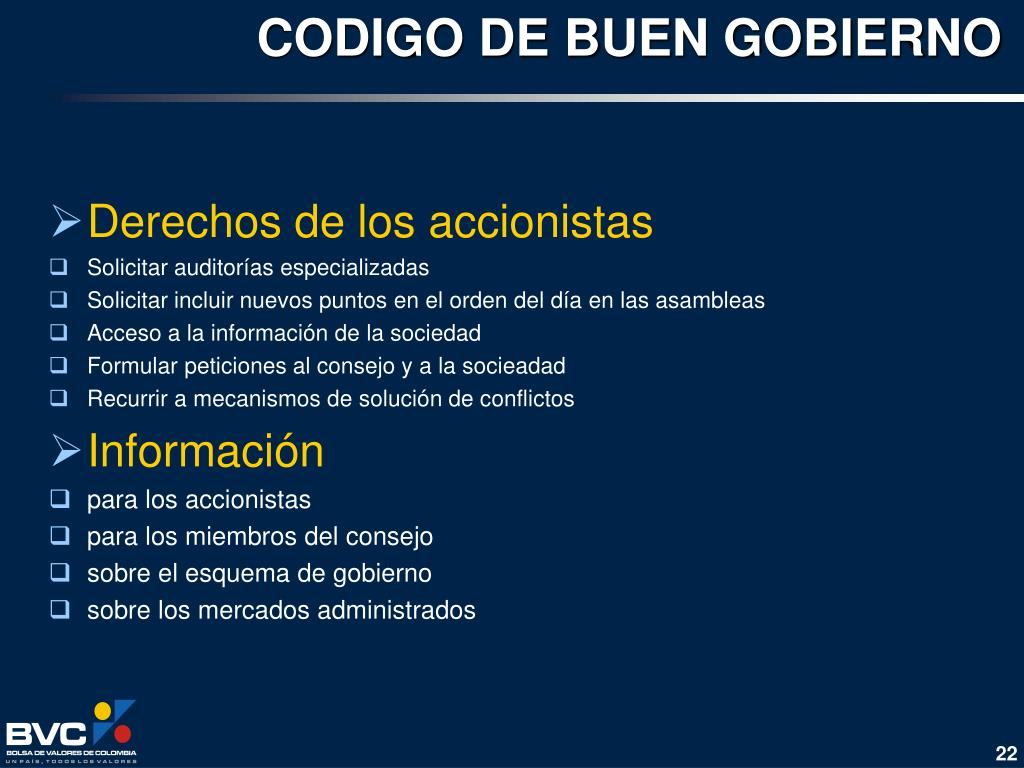 CODIGO DE BUEN GOBIERNO
