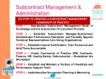 subcontract management administration10