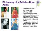 dichotomy of a british born asian