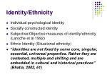 identity ethnicity