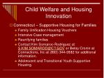 child welfare and housing innovation