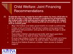 child welfare joint financing recommendations14
