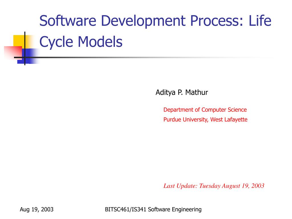 software development process life cycle models l.