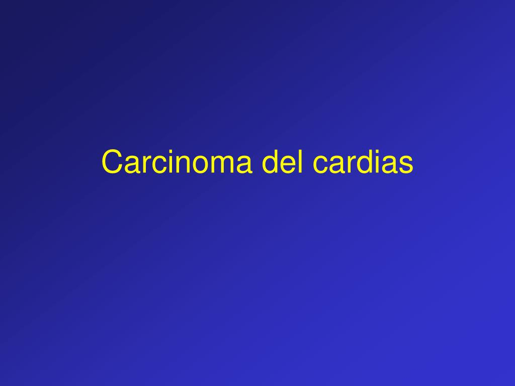 carcinoma del cardias l.