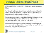 donahue institute background