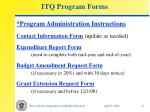 itq program forms