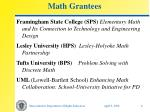 math grantees