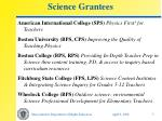 science grantees