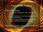 charismatic leaders