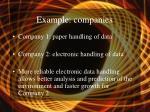example companies