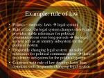 example rule of law