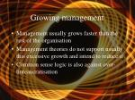 growing management