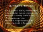 information subsystem