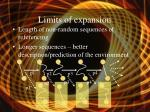 limits of expansion