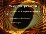 management phenomena
