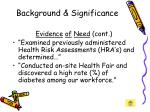 background significance11