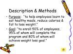 description methods