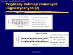 przyk ady definicji zmiennych lingwistycznych 2