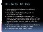 hill burton act 1945