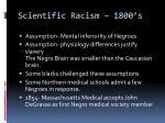 scientific racism 1800 s