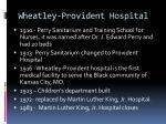 wheatley provident hospital