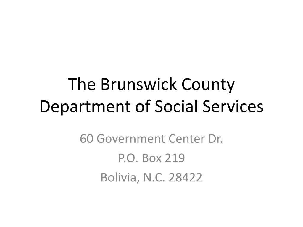 the brunswick county department of social services l.