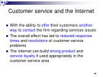 customer service and the internet29