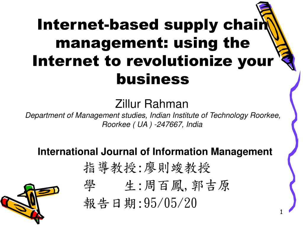 internet based supply chain management using the internet to revolutionize your business l.