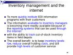 inventory management and the internet23