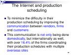 the internet and production scheduling33