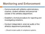 monitoring and enforcement21