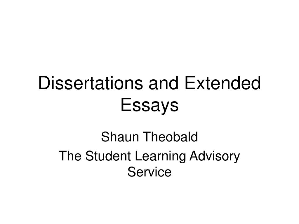 dissertations and extended essays l.