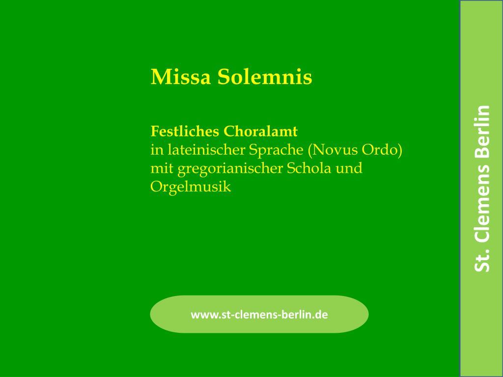 festliches choralamt in lateinischer sprache novus ordo mit gregorianischer schola und orgelmusik l.