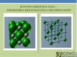 jonowa budowa soli struktura krystaliczna chlorku sodu