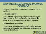 skutki stosowania nawoz w sztucznych negatywne