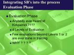 integrating sb s into the process evaluation phase