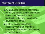 storyboard definition