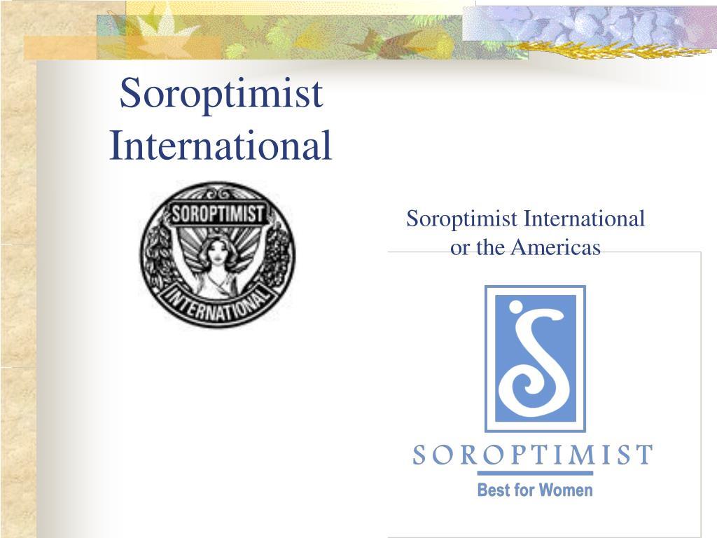 soroptimist international l.
