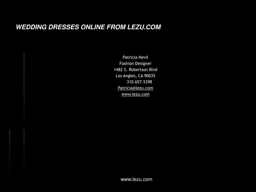 WEDDING DRESSES ONLINE FROM LEZU.COM