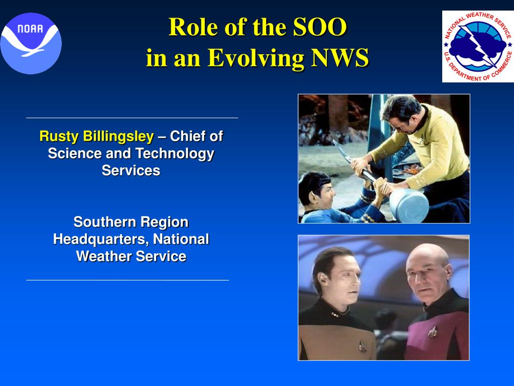 role of the soo in an evolving nws l.