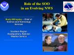 role of the soo in an evolving nws