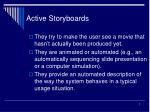 active storyboards