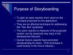 purpose of storyboarding
