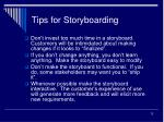 tips for storyboarding