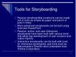 tools for storyboarding
